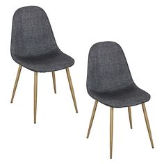 Nestle into a comfortable and relaxing seat at dinner time with the Tom Dining Chair, Dark Grey (Set of 2) from 6ixty.