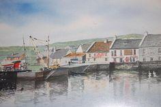 Inish Mor Watercolor by Irish Artist Harry Feeney by HarryFeeney