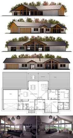 House Plans in Modern Architecture. Dream House Plans, Modern House Plans, Small House Plans, House Floor Plans, Residential Architecture, Architecture Design, Screen House, Home Design Plans, House Layouts