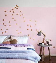 Wandtattoo Wandaufkleber Punkte  - KONFETTI DOTS 35 Farben 90 Stk. Wandsticker - ein Designerstück von UrbanARTBerlin