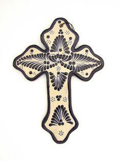 Talavera Cross | Cruz Artesanal de Talavera. Hecha en Puebla www.chiapasbazaar.com