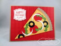 Birthday Pizza Punch Art Stampin' Up by Andi Potler