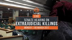 LIVE: Senate hearing on extrajudicial killings, 06 March 2017 - WATCH VIDEO HERE -> http://dutertenewstoday.com/live-senate-hearing-on-extrajudicial-killings-06-march-2017/   Expected today is the testimony of witness Arthur Lascañas, a self-confessed former member of the Davao Death Squad allegedly led by pres Rodrigo Duterte when he was Davao City mayor. More on Rappler:  Follow Rappler on Social Media: Facebook – Twitter – Instagram – YouTube ...