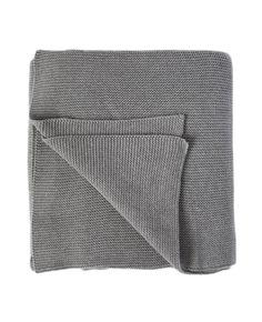 Grey Small Stitch Throw