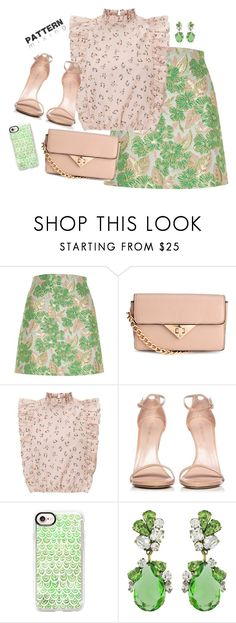 """Crying in the club"" by icedtealee ❤ liked on Polyvore featuring River Island, Stuart Weitzman, Casetify, Badgley Mischka and patternmixing"