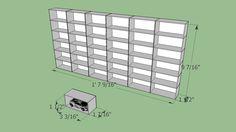 Hotwheels 1:64 Cars display arcrylic rack - 3D Warehouse