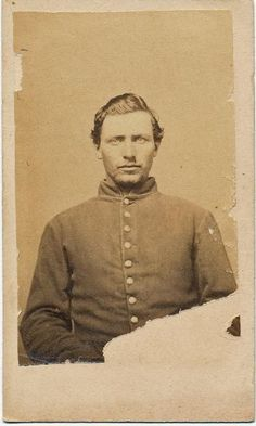 """William Mock 9th Illinois Inf CDV WIA Shiloh and Salem  Miss.  Ink signed on the verso. No back mark.  $150    William Mock   Residence Pope Creek IL; Enlisted on 8/6/1861 as a Private. On 8/9/1861 he mustered into """"E"""" Co. IL 9th Infantry He was Mustered Out on 8/20/1864"""