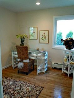 Sold in One Day. In this vacant house, we staged this small room (that had a washer-dryer in it) as a home office. A ReMax Innovations listing