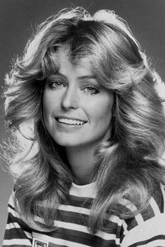 Farrah Fawcett - some hot rollers and lots of hair spray and we had this look!