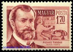 Tivadar Puskas auf ungarischer Briefmarke: http://d-b-z.de/web/2014/09/17/tivadar-puskas-briefmarken/