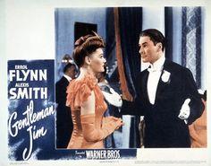 Gentleman Jim Errol Flynn Alexis Smith 11x14 Lobby Card