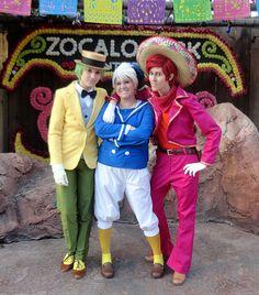 """Three Caballeros at the Halloween Party at Disneyland.  We had a lot of fun.  I wish I could live at Disneyland."""