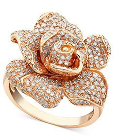 Effy Collection Diamond Ring, 14k Rose Gold Diamond (1-1/8 ct. t.w.) - Rings - Jewelry & Watches - Macy's