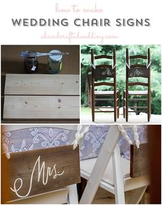 DIY Wedding Chair Signs | ahandcraftedwedding.com #DIY #wedding #signs