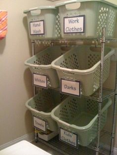 I love this idea! No more sorting, just throw it in the wash!