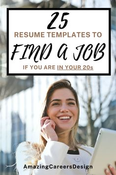 The Best 25 Resume Templates for Freshers and College Students - Looking for a new job and for an easy and effective way to design the perfect resume without spending days trying to make it look nice? AmazingCareers offers easy and very affordable resume templates designed by professionals to help you land your dream job. Update your old resume within one hour with just MS Word! Check out all our templates and guides in our Etsy shop. #resume #job #career #business