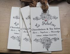 NEW french market la fabuleux tags set of 5 by OkioBDesigns, $3.95
