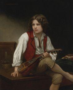 French Painters: William-Adolphe BOUGUEREAU - L'Anglais a la Mandoline