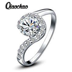 Ювелирные изделия кольцо обручальное кольцо для женщин белое золото заполненные CZ ювелирных изделий с бриллиантами кольцо bijoux bague famale TR15