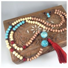 Mother's love protection amulet yoga meditation mala necklace | Innerbalancejewelry - on ArtFire