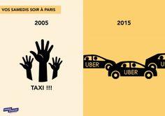 infographie31 Uber Taxi, Paris 2015, Change, Reading Material, Happy, School Stuff, Content, Ser Feliz, Being Happy