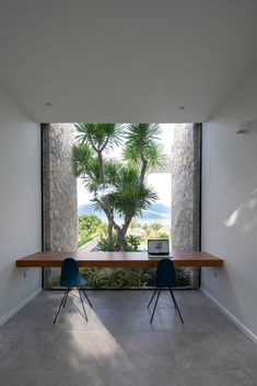 The Cam Hai House by Idee Architects in Cam Hai Dong, Vietnam is a luxurious contemporary home with a stunning view. Study Nook, Tropical Houses, Indoor Outdoor Living, Home Office Design, Maine House, Design Awards, Hollywood Hills, Architecture Details, Interior Design