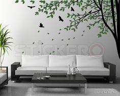 Crengute infrunzite cu pasarele Stickers, Monster, Home Decor, Life, Decoration Home, Room Decor, Home Interior Design, Home Decoration, Decals
