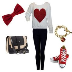 Fun Outfit For Valentineu0027s Day! Http://sparkleonandwearbows.wordpress.com/