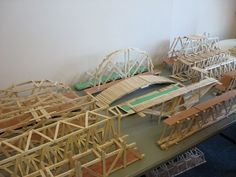 Bridges Built For The Popsicle Bridge Competition On Engineering Day Could You Build A Model Using Only 150 Sticks