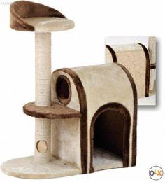 Wunderschöner Katzenbaum, neu, 81cm hoch Liegeplatte mit Spielball 34x25cm Liegeplatte 34x34cm Höhle 47x34x31cm, Rückenteil mit Kratzmöglichkeit... Kind Mode, Wooden Toys, Sisal, Design, Animals And Pets, Kids, Brown, Wooden Toy Plans, Wood Toys