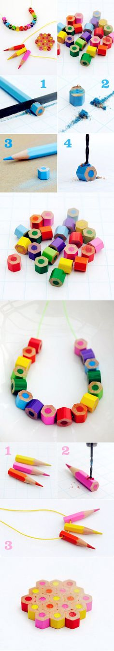 DIY Colored Pencil Necklace