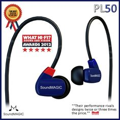 Soundmagic PL50 Balance Armature hifi in ear earphones, good sound quality China famous brand New original Free airmail shipping