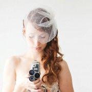 dot birdcage veil