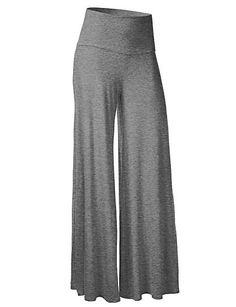 Women's Solid Blue / Red / White / Black / Brown / Gray / Green / Purple Wide Leg Pants,Simple 4873991 2016 – $12.99