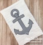 Anchor Sketch Embroidery Design