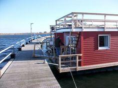 Hausboot 'Lilla Lina' in Burgtiefe auf der Ostsee Insel Fehmarn