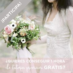¿Te gustaría conseguir una hora de tutoría premium para Wedding Planner completamente GRATIS?  Pues no pierdas más tiempo y participa ya.   Tienes toda la información en este enlace o haciendo click en la foto:  http://myweddingplanneracademy.es/tutorias/