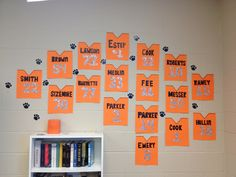 My Middle School Classroom decorations ..supporting my middle school football players! They loved it!!