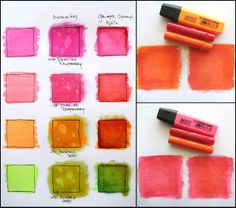 """ScrapFriends - All about Scrapbooking: Step-by-Step: """"Neon Colouring"""" by Zeneva Kovic"""