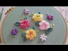 [프랑스자수] 장미자수 Rose Embroidery - YouTube
