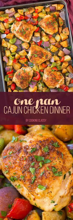 One Pan Cajun Chicken Dinner