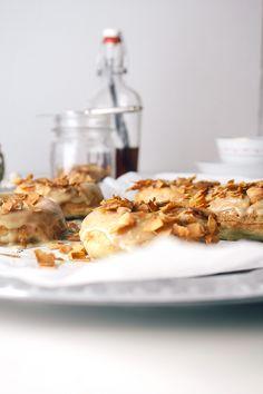 Baked Vegan Maple Bacon Donuts - Vegetarian Ventures