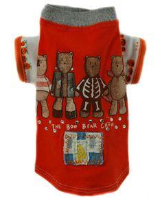 Jack Rocketwear Couture Vintage Halloween Boo Bear Crew Dog Pet Outfit Shirt