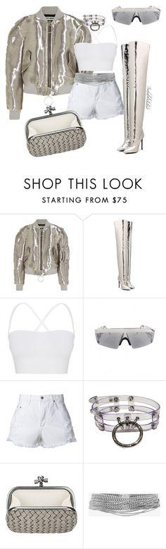 """Untitled #1060"" by styledbyjovon ❤ liked on Polyvore featuring Off-White, Balenciaga, Theory, Nobody Denim, Bottega Veneta and Yves Saint Laurent"