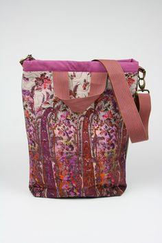 READY TO SHIP - Tote bag - magenta pink tan - women bag - screen printed - laptop bag by BagitBag on Etsy