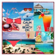 """Summer Wonderland"" by oksana-kolesnyk ❤ liked on Polyvore featuring Topshop, Sensi Studio, Charlotte Tilbury, Roxy, Evergreen, Kate Spade and rag & bone"