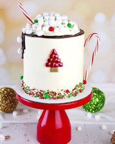 Cake Cookies, Cupcake Cakes, Fall Wedding Cupcakes, Cake Decorating Company, Christmas Sweets, Christmas Cakes, Sponge Cake Recipes, Holiday Cakes, Diy Cake