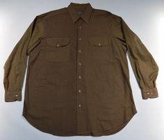 ROBERT TALBOTT Shirt Brown Houndstooth Long Sleeve Button-Down Cotton Size L #RobertTalbott #ButtonFront