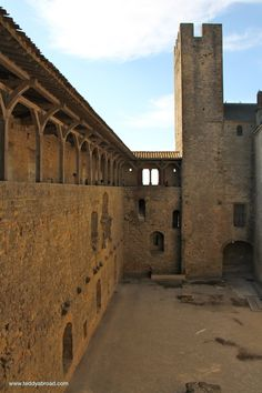 Remains of the main hall, Carcassonne, France. From www.teddyabroad.com