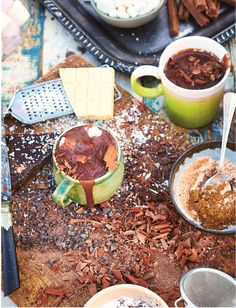 Ultimate Hot Chocolate from Jamie Oliver. This Hot Chocolate recipe is undoubtedly a beautiful thing. These quantities make enough for 16 servings, so make a batch, pop it into a jar and wrap it up for your loved on this Valentine's Day. http://thehappyfoodie.co.uk/recipes/ultimate-hot-chocolate
